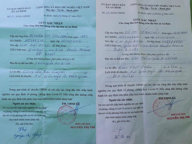 """Bắc Ninh: Phó Chủ tịch xã ký giấy cho dân """"đi buôn"""" trong vùng dịch  - Ảnh 1."""