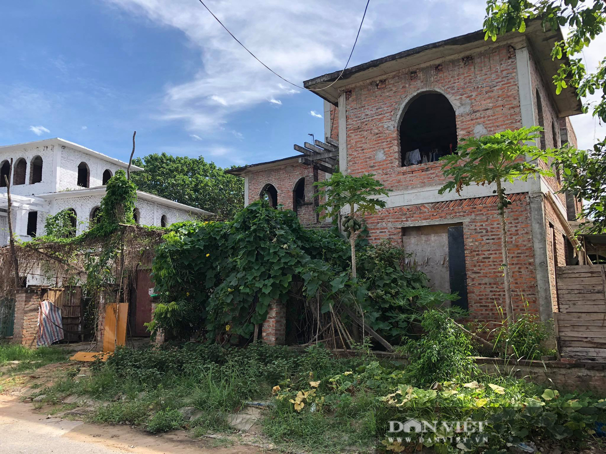 La liệt biệt thự chục tỷ đồng bỏ hoang ở Hà Nội - Ảnh 4.