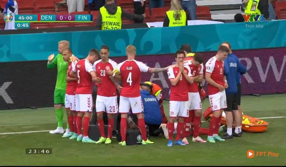 SỐC: Tiền vệ Eriksen tự đổ gục, nuốt lưỡi trong trận Đan Mạch vs Phần Lan - Ảnh 1.