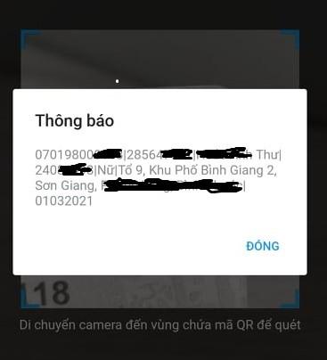 Cách xem thông tin cá nhân từ mã QR trên thẻ Căn cước công dân gắn chíp - Ảnh 3.