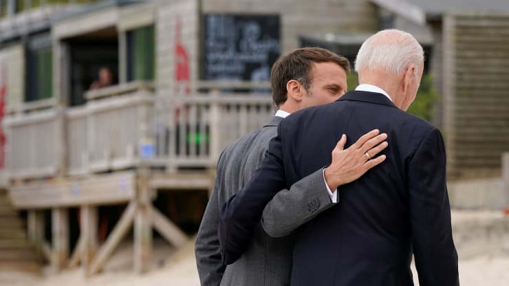 """Tổng thống Pháp: """"Nước Mỹ đã trở lại"""" dưới thời ông Biden - Ảnh 1."""