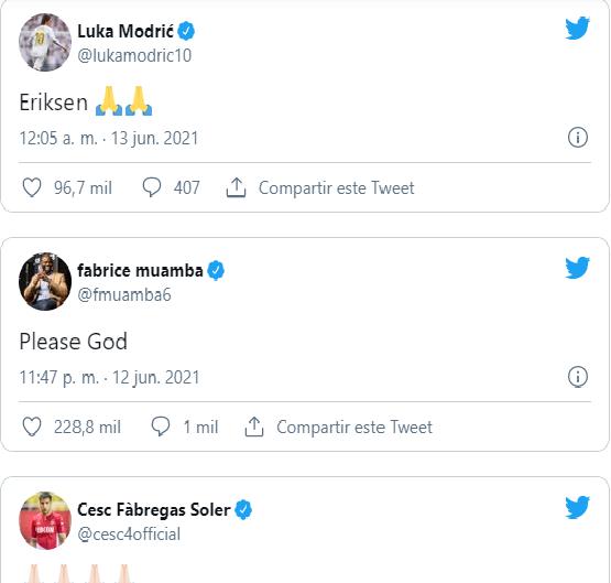 Tiền vệ Eriksen đột quỵ ở trận Đan Mạch vs Phần Lan, nhiều ngôi sao cùng cầu nguyện - Ảnh 2.