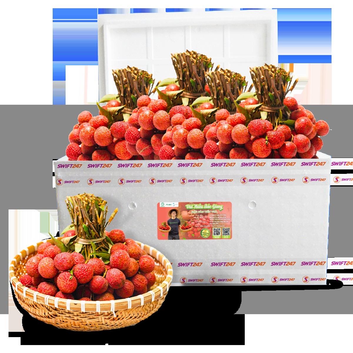 Chung tay hỗ trợ nông dân Bắc Giang, Vietjet & Swift247 vận chuyển vải thiều tới nhiều thị trường trong nước và quốc tế - Ảnh 1.