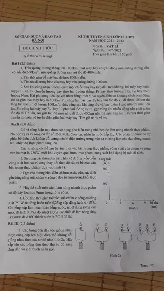 Tổng hợp đề thi vào lớp 10 Chuyên Hà Nội năm 2021, phụ huynh và thí sinh tham khảo - Ảnh 3.