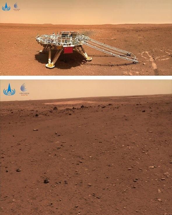 Những hình ảnh thú vị được gửi về từ tàu thám hiểm sao Hỏa của Trung Quốc - Ảnh 2.