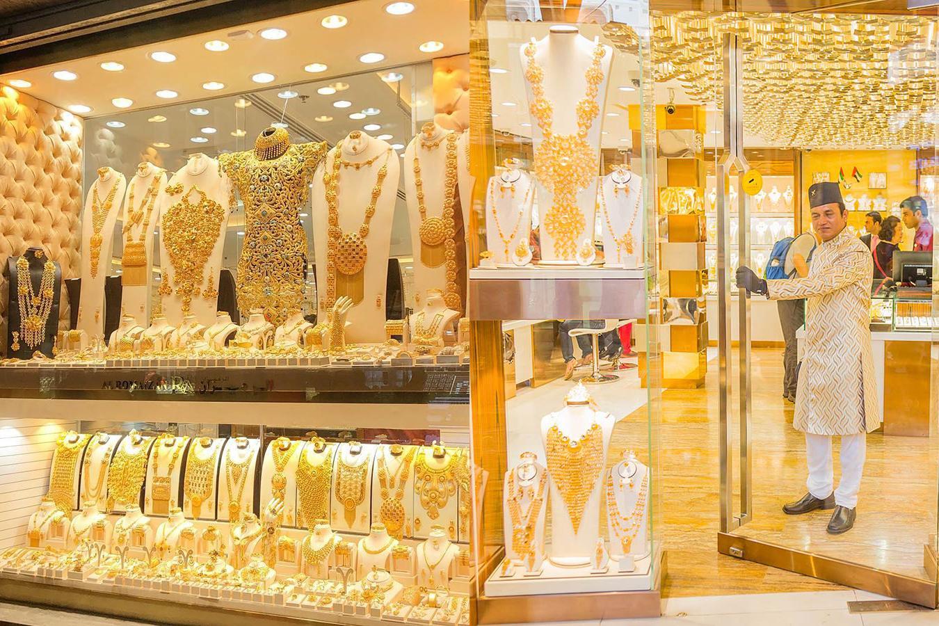 Lóa mắt trước khu chợ toàn bằng vàng ở UAE - Ảnh 1.