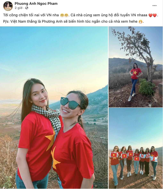 """Loạt mỹ nhân Việt nhiệt tình """"tiếp lửa"""" cho ĐT Việt Nam trước trận gặp UAE - Ảnh 4."""