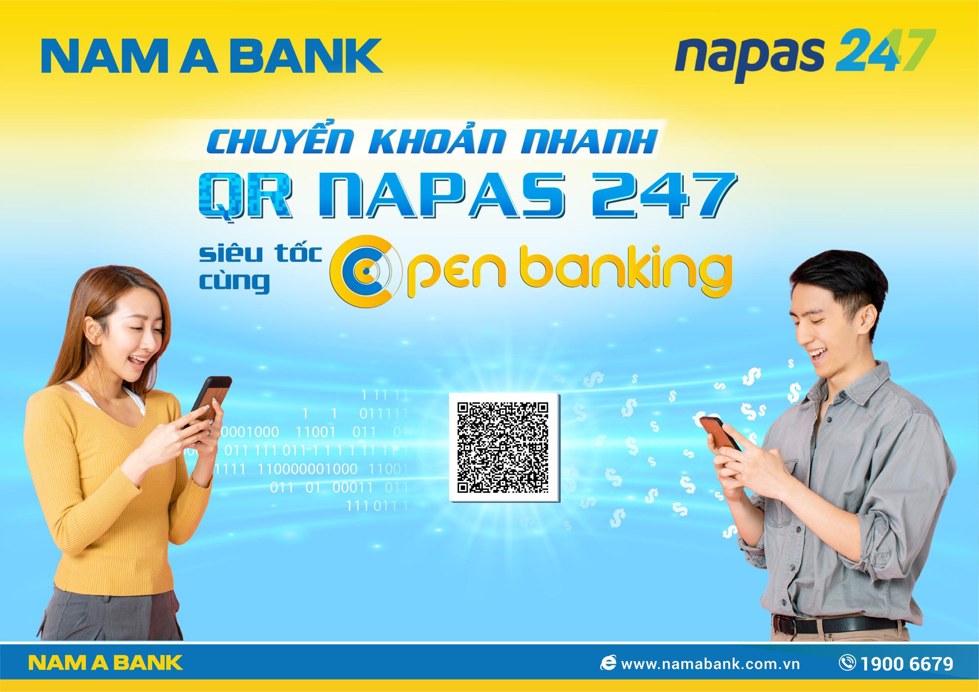 Nam A Bank - top ngân hàng Việt đầu tiên chuyển khoản nhanh NAPAS 247 bằng mã QR - Ảnh 2.