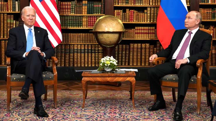 Tổng thống Biden và Putin bước vào cuộc hội đàm quan trọng tại Geneva - Ảnh 1.