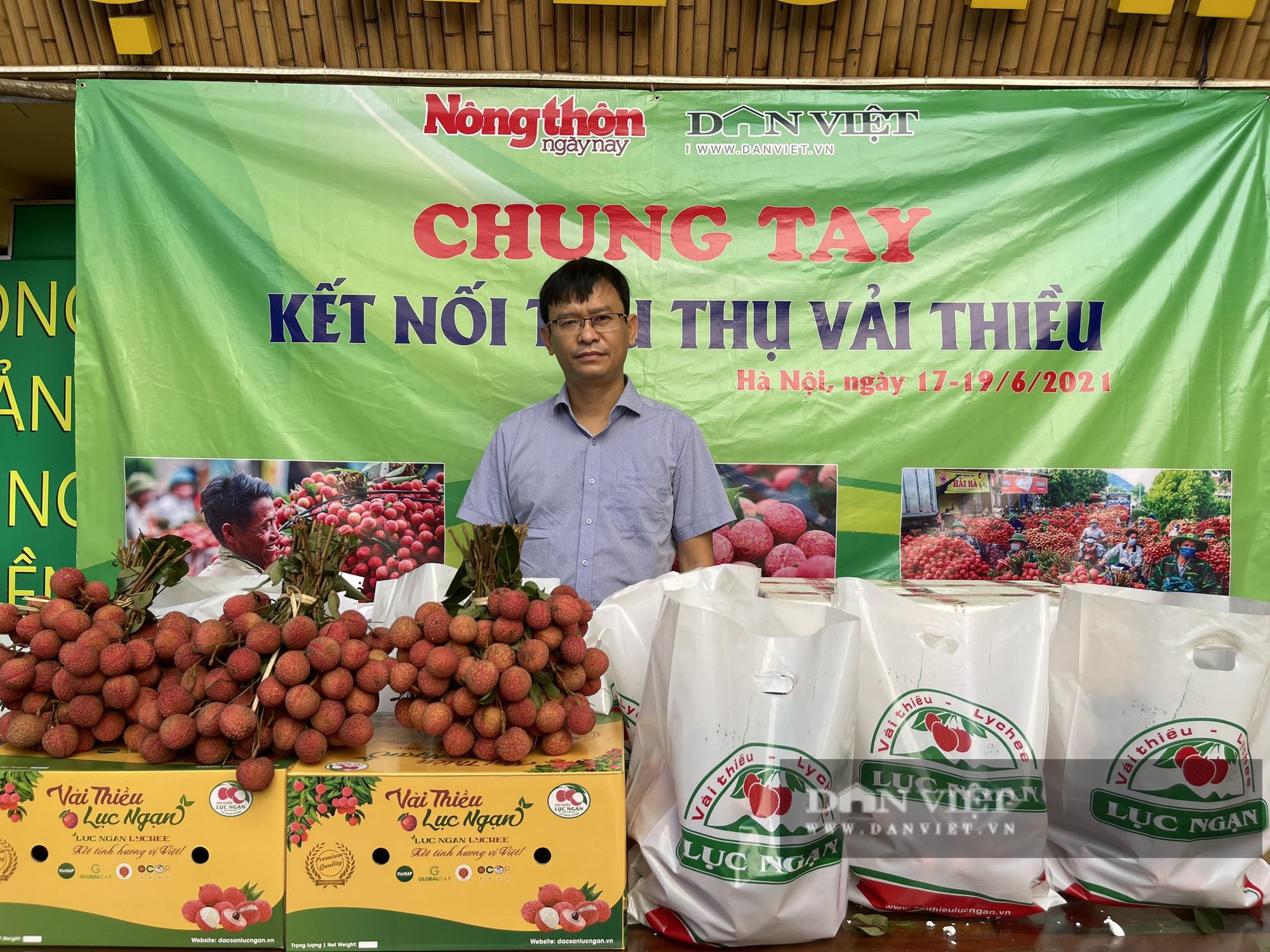 Vải thiều Lục Ngạn đã có mặt tại Trung tâm kết nối tiêu thụ nông sản Báo NTNN/ Điện tử Dân Việt - Ảnh 1.