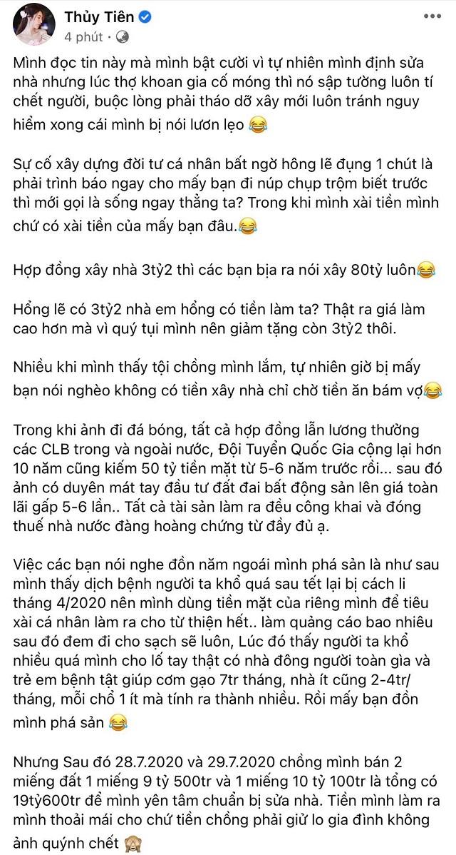 """Thủy Tiên tiết lộ thu nhập và tài sản """"kếch xù"""" của Công Vinh - Ảnh 2."""