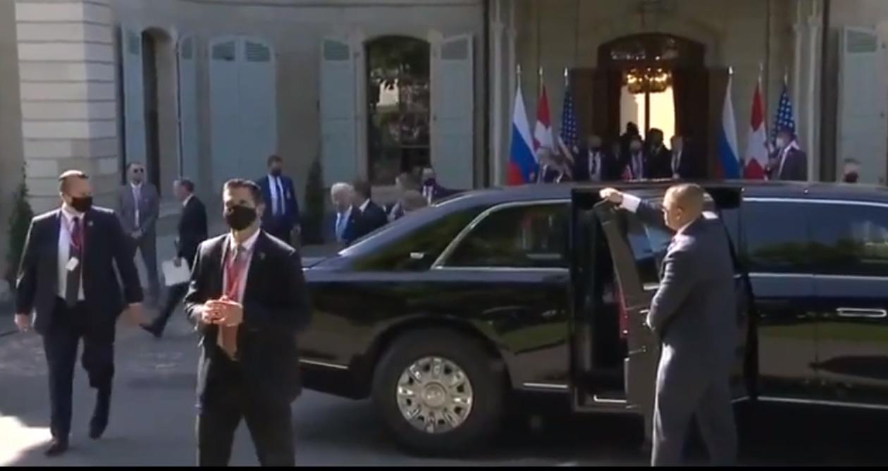 Hình ảnh dàn xe, nhân viên an ninh cực chất tháp tùng, bảo vệ Tổng thống Joe Biden và Putin tại Thụy Sĩ - Ảnh 2.