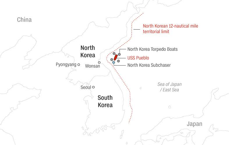 Triều Tiên bắt giữ tàu USS Pueblo, Mỹ lên kế hoạch tấn công hạt nhân - Ảnh 3.