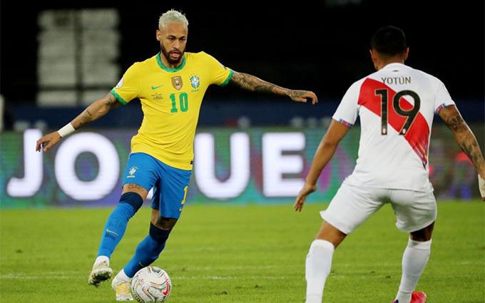 """Kết quả, BXH Copa America 2021: Neymar """"nổ súng"""", Brazil đè bẹp Peru"""