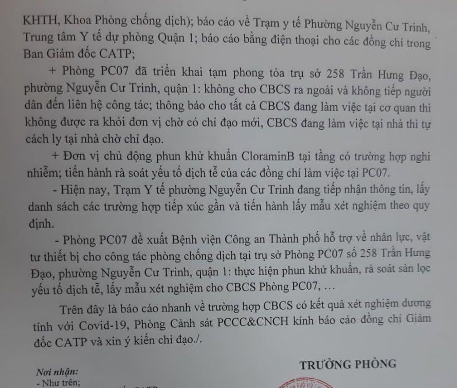 Một cán bộ PCCC TP HCM cùng 6 người trong gia đình mắc Covid-19 - Ảnh 1.