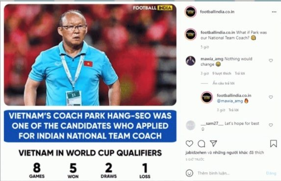 """NÓNG: HLV Park Hang-seo lọt vào """"tầm ngắm"""" của ĐT Ấn Độ - Ảnh 1."""