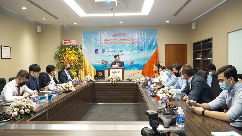 PVN tổ chức Lễ đón nhận dòng khí đầu tiên Giai đoạn 2A, mỏ Sử Tử Trắng - Ảnh 3.
