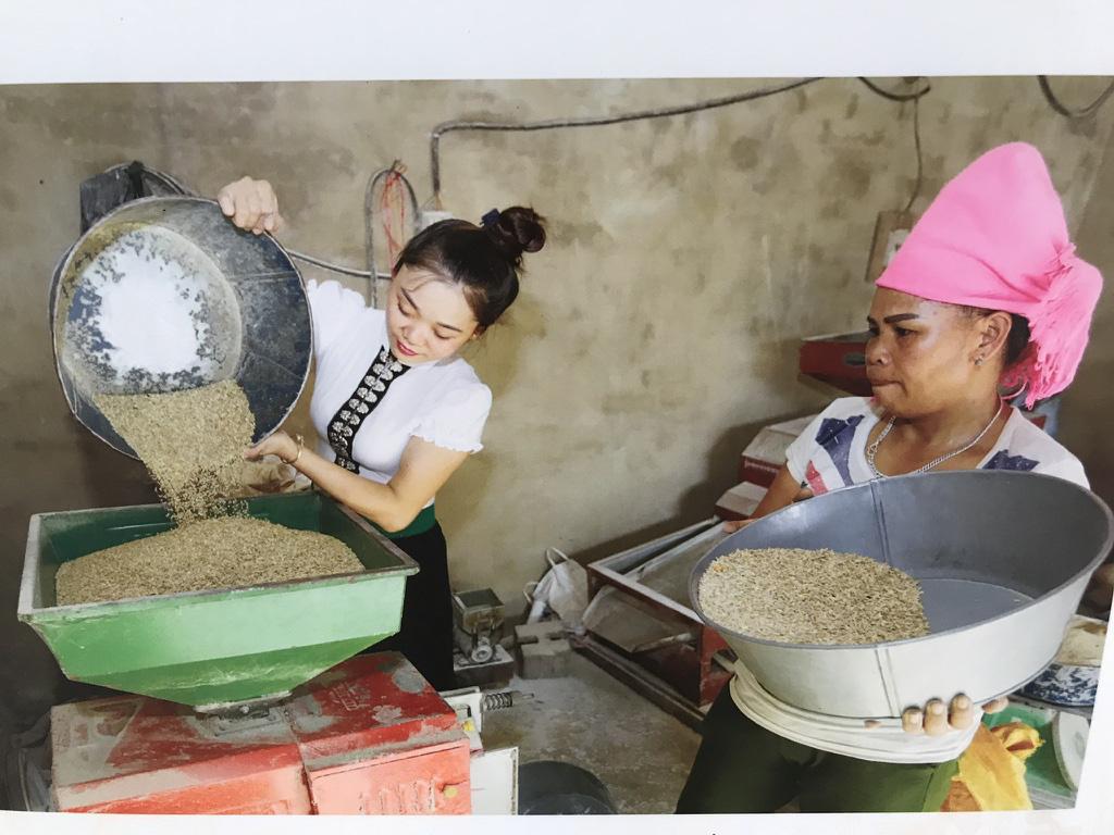 Chị Hà Thị Thảo (Nghĩa Lợi, huyện Nghĩa Lộ, Yên Bái) được vay vốn mua máy xay xát gạo chăn nuôi gia súc, gia cầm để giảm nghèo. Ảnh: Trần Việt