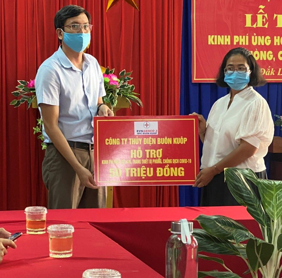 Công ty Thuỷ điện Buôn Kuốp chung tay phòng chống dịch Covid-19 - Ảnh 1.