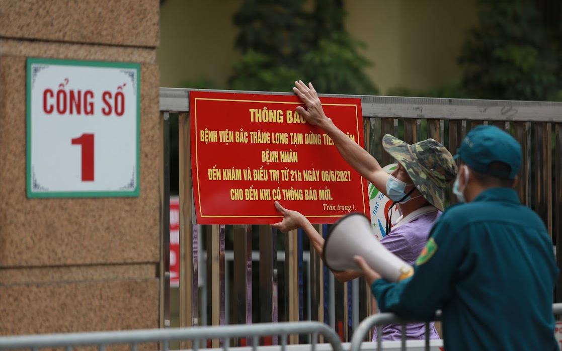 Hà Nội: Phát hiện phụ nữ dương tính SARS-CoV-2 đến khám, BV Bắc Thăng Long phải phong tỏa
