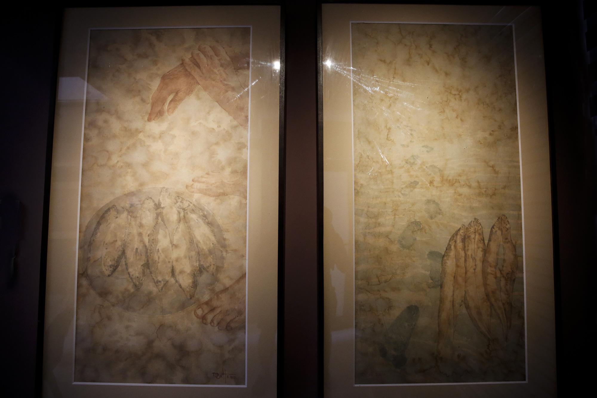 Chiêm ngưỡng không gian tranh giấy dó truyền thống đặc biệt tại Hà Nội - Ảnh 12.