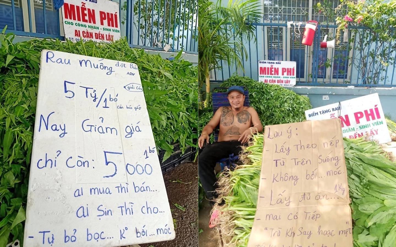 """Anh bán rau khiến MXH """"dậy sóng"""": Rau muống """"đột biến"""" 5 tỷ/ bó nhưng sẵn sàng mang cho những người khó khăn"""