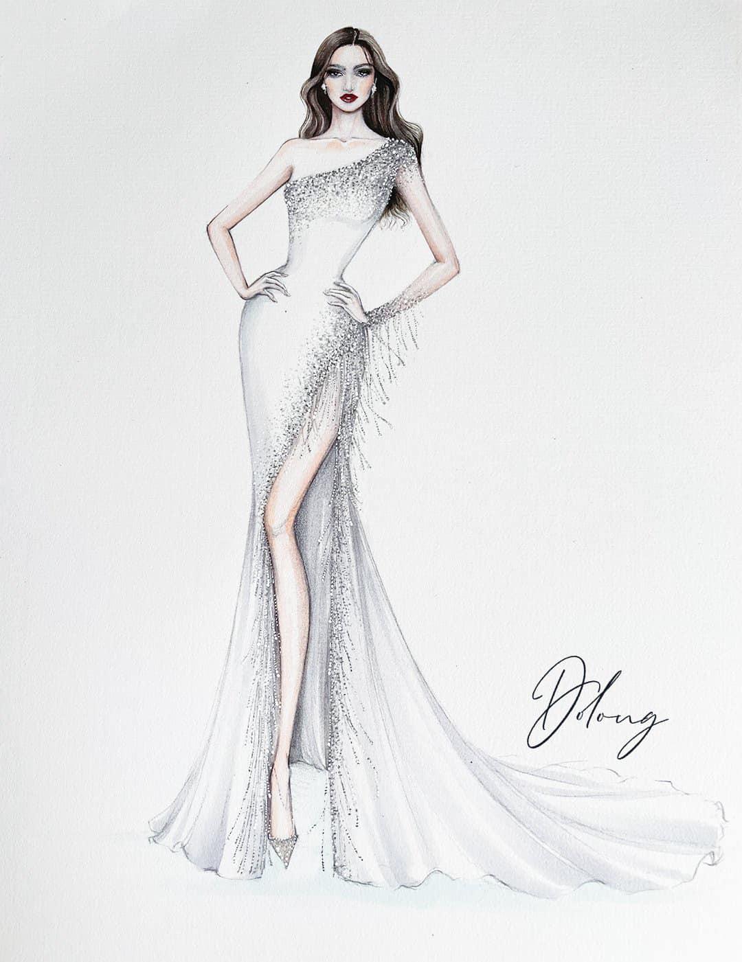 Hé lộ 5 mẫu thiết kế đầm dạ hội của Hoa Hậu Đỗ Thị Hà trong Chung kết Miss World 2021 - Ảnh 4.