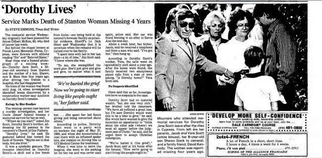 Vụ án mạng kinh hoàng của Dorothy Jane Scott, đến nay vẫn chưa có lời giải - Ảnh 5.