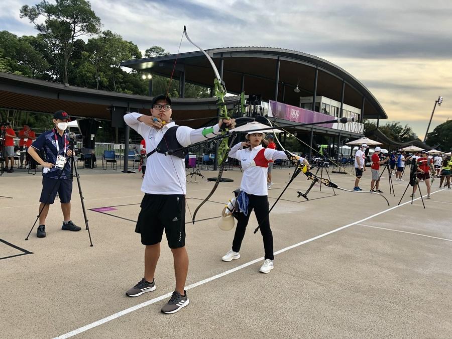 """Vẻ đẹp""""vạn người mê"""" của nữ cung thủ mở màn Olympic Tokyo cho thể thao Việt Nam - Ảnh 2."""