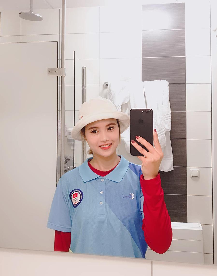 """Vẻ đẹp""""vạn người mê"""" của nữ cung thủ mở màn Olympic Tokyo cho thể thao Việt Nam - Ảnh 4."""