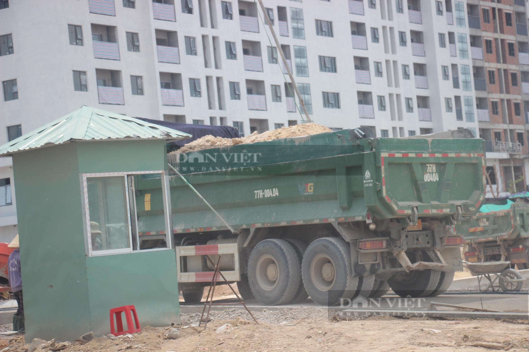 """Ngang nhiên dùng đất """"lậu"""" thi công dự án Nhà ở xã hội Ecohome Nhơn Bình? - Ảnh 7."""