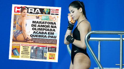Sex cả đêm, Hoa hậu nhảy cầu Brazil bị đuổi khỏi… Olympic! - Ảnh 1.