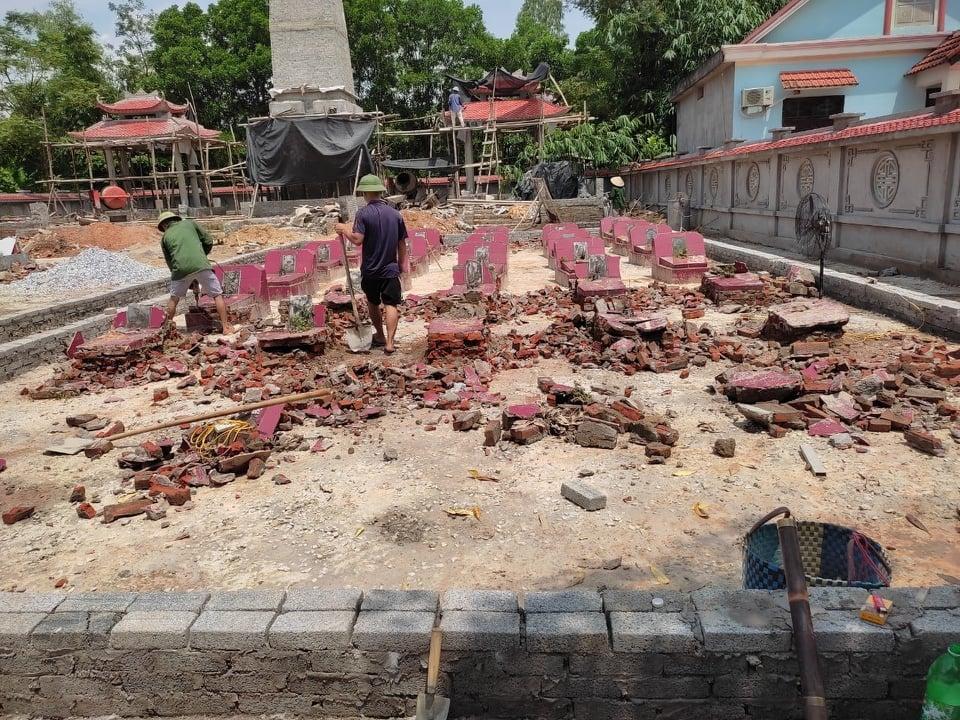 Thái Nguyên: Hé lộ nguyên nhân các ngôi mộ Liệt sỹ bị san phẳng tại nghĩa trang xã Úc Kỳ - Ảnh 4.