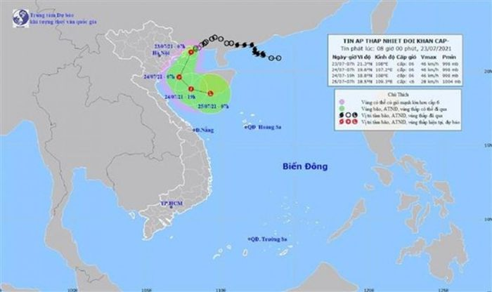 Áp thấp nhiệt đới đổ bộ vào Hải Phòng, Ninh Bình, gió giật cấp 8 - Ảnh 1.