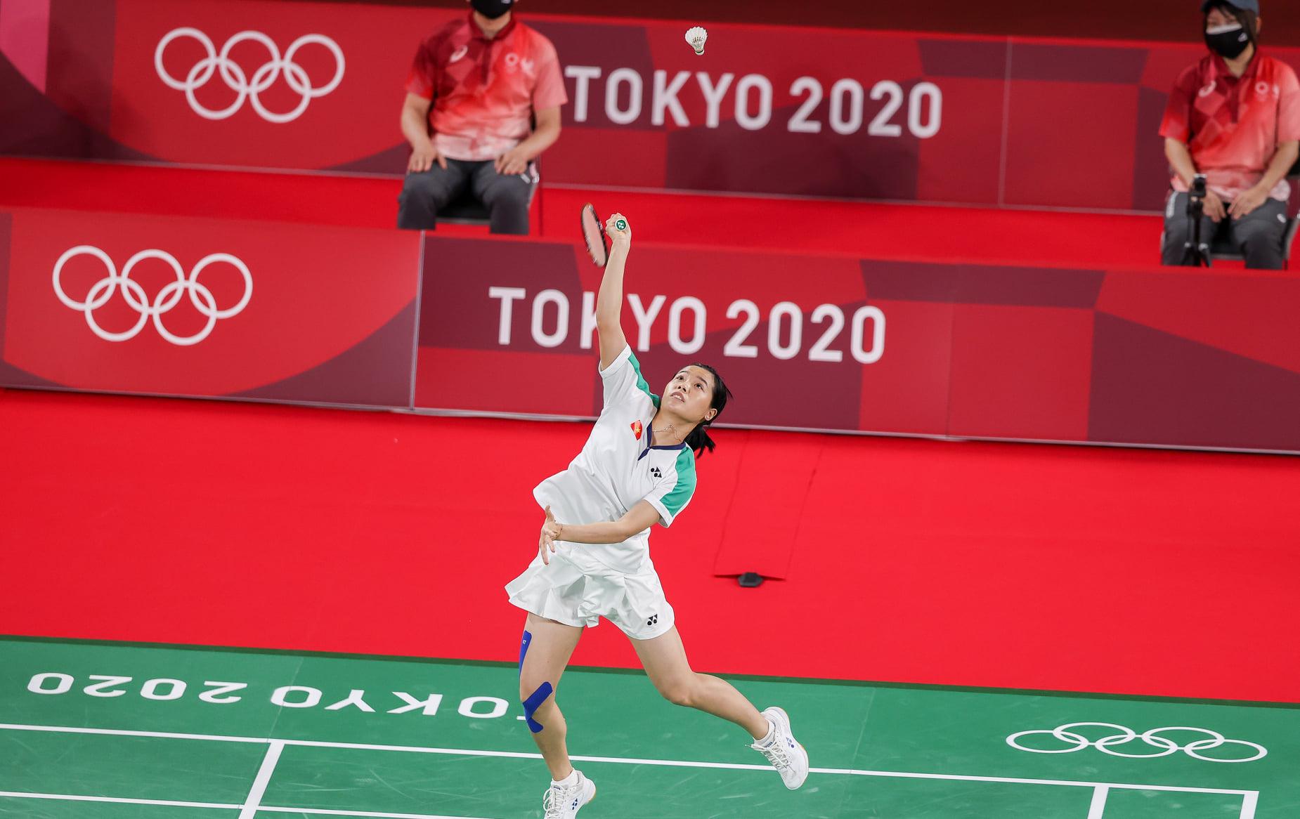 Vẻ đẹp hotgirl cầu lông Việt Nam thắng đối thủ gốc Trung Quốc tại Olympic Tokyo - Ảnh 1.