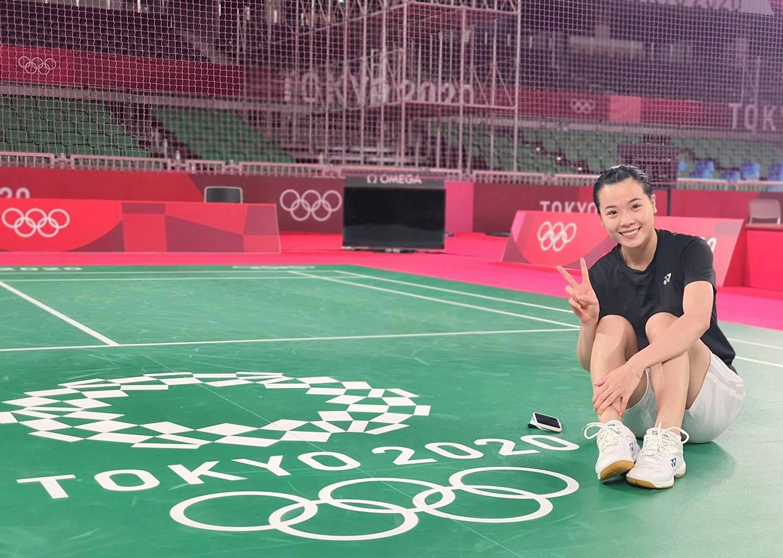 Vẻ đẹp hotgirl cầu lông Việt Nam thắng đối thủ gốc Trung Quốc tại Olympic Tokyo - Ảnh 3.