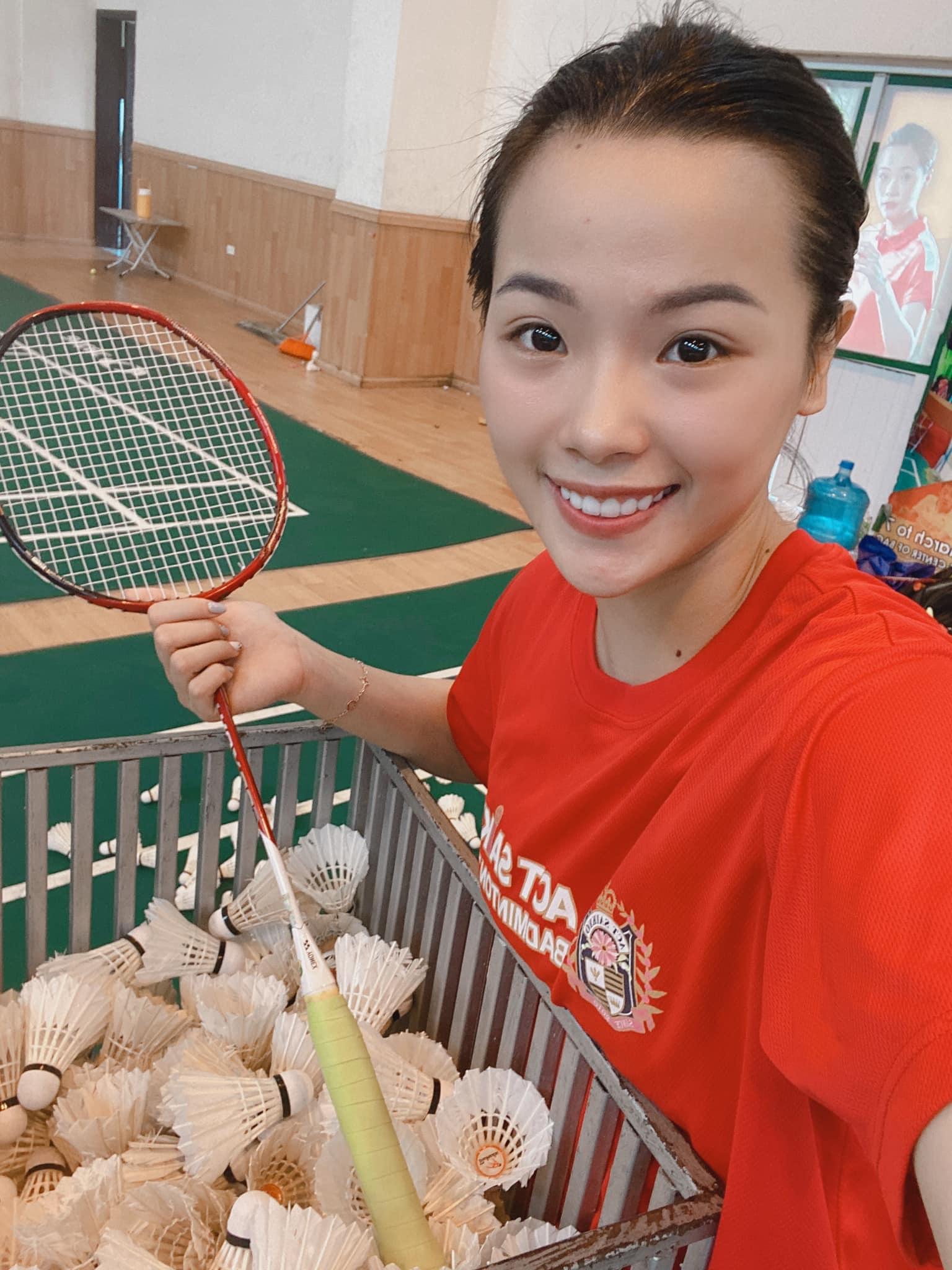 Vẻ đẹp hotgirl cầu lông Việt Nam thắng đối thủ gốc Trung Quốc tại Olympic Tokyo - Ảnh 6.
