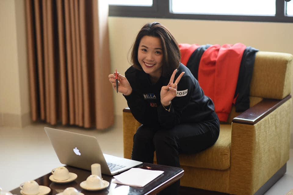Vẻ đẹp hotgirl cầu lông Việt Nam thắng đối thủ gốc Trung Quốc tại Olympic Tokyo - Ảnh 9.