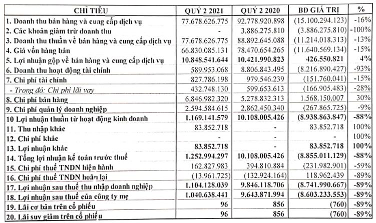 Thủy sản Bến Tre (ABT): Không có cổ tức từ FMC, Quý II lợi nhuận sau thuế vỏn vẹ 1 tỷ đồng - Ảnh 2.