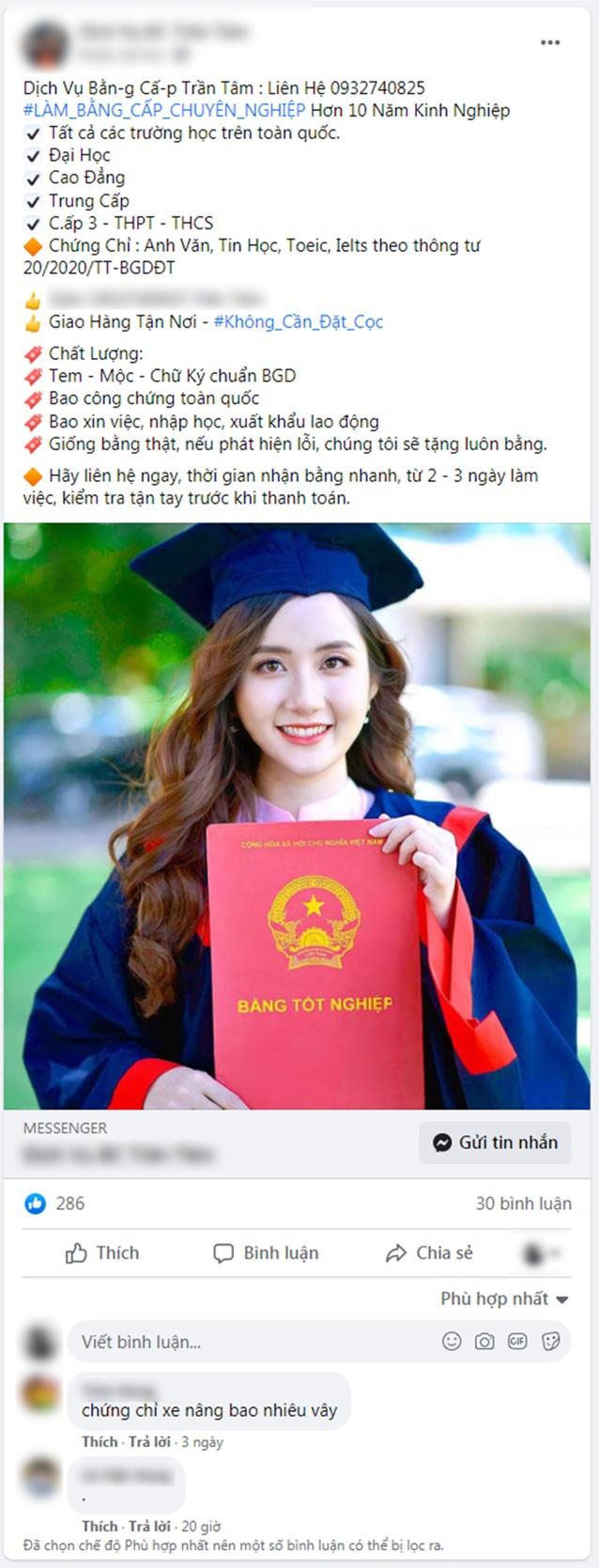 """Thủ khoa xinh đẹp của Đại học Kiểm sát """"cầu cứu"""" vì hình ảnh bị quảng cáo làm bằng giả - Ảnh 2."""