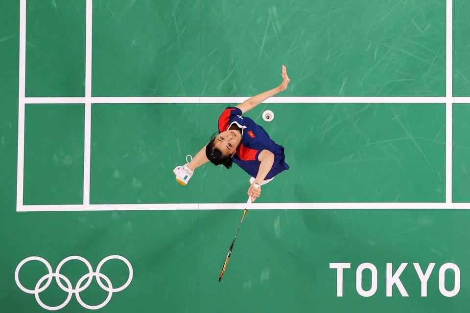 Ảnh: Hotgirl cầu lông Thùy Linh thắng 2 trận tại Olympic và chỉ để thua tay vợt số 1 thế giới - Ảnh 6.