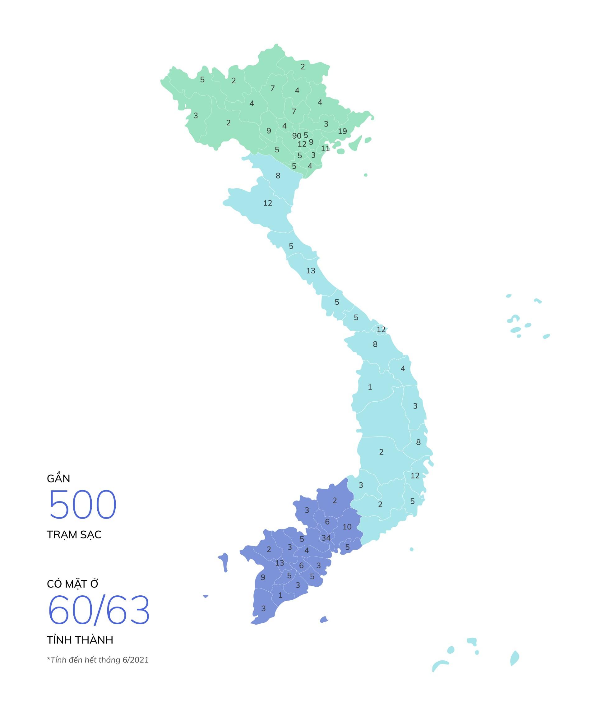 VinFast lắp đặt thần tốc hơn 8.100 cổng sạc ô tô, xe máy điện tại 60 tỉnh thành - Ảnh 1.