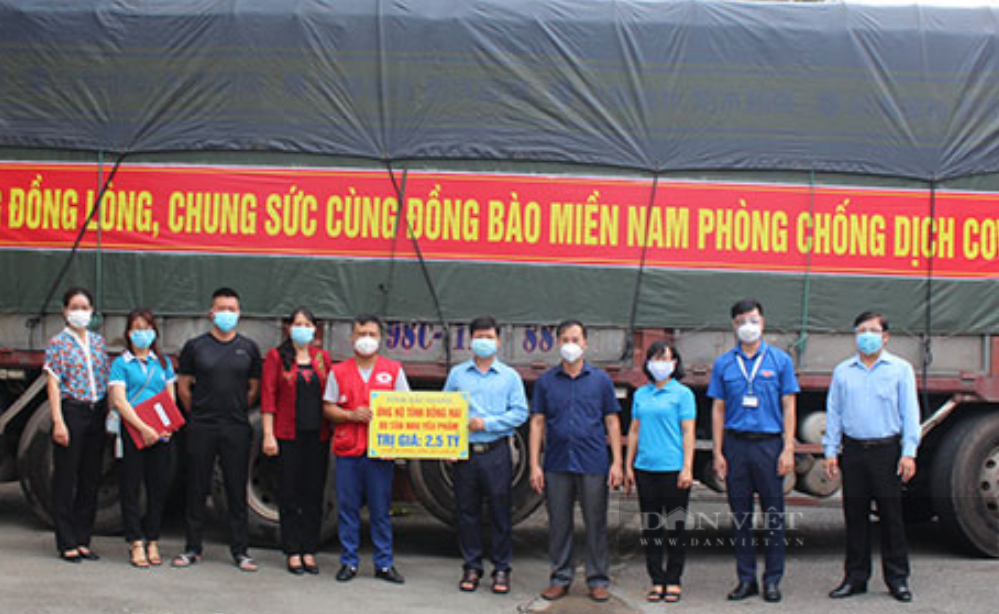 Bắc Giang cùng doanh nghiệp tặng cả trăm tấn nhu yếu phẩm, hàng hóa thiết yếu cho Đồng Nai - Ảnh 3.