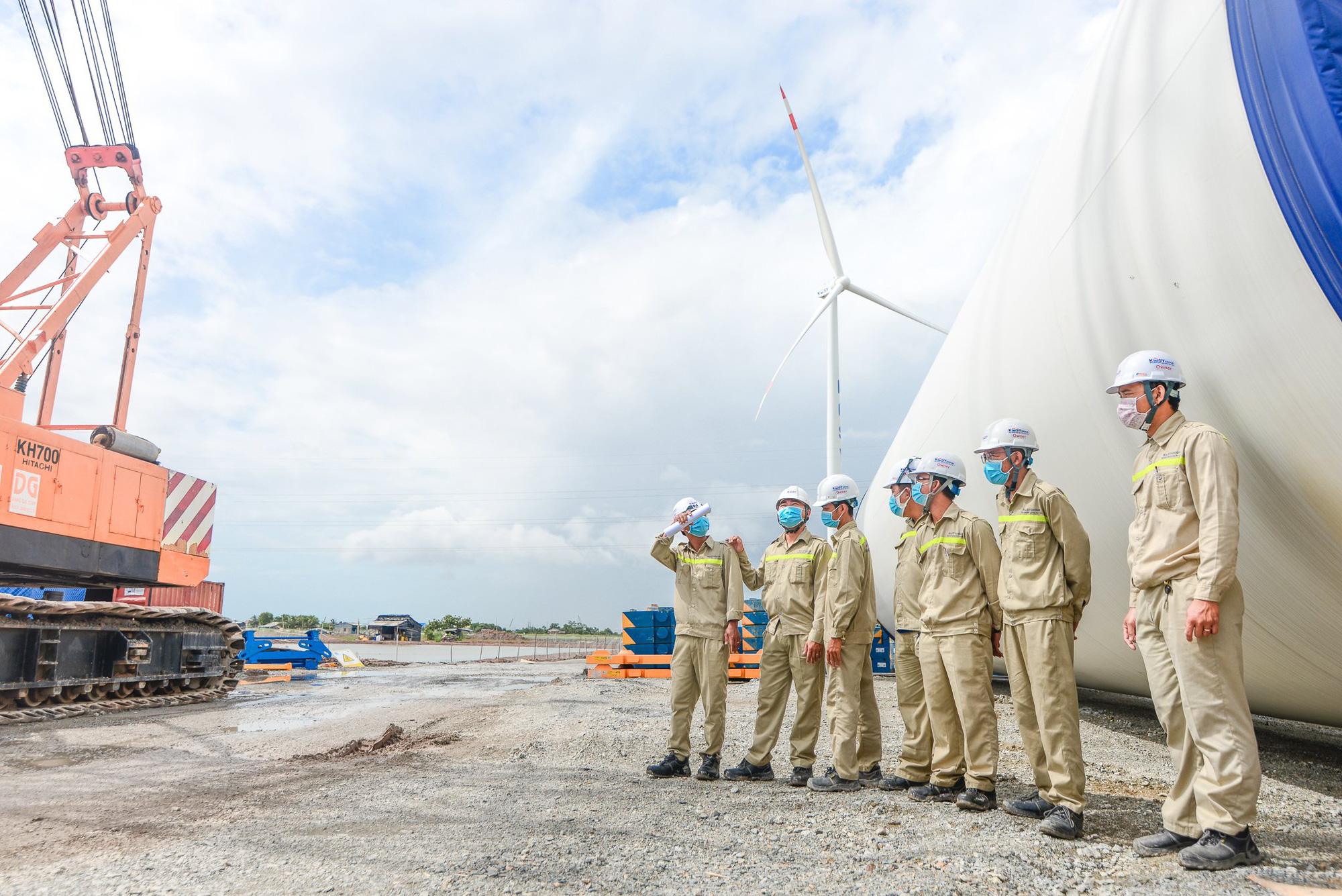 Nhà máy điện gió Kosy Bạc Liêu: Tăng tốc về đích, đảm bảo phòng chống dịch Covid-19 - Ảnh 3.