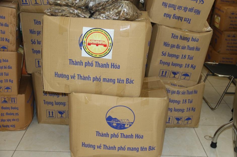 Ấm lòng mùa dịch: Gần 68 tấn nhu yếu phẩm từ Thanh Hoá gửi tặng Công an TP.HCM - Ảnh 2.