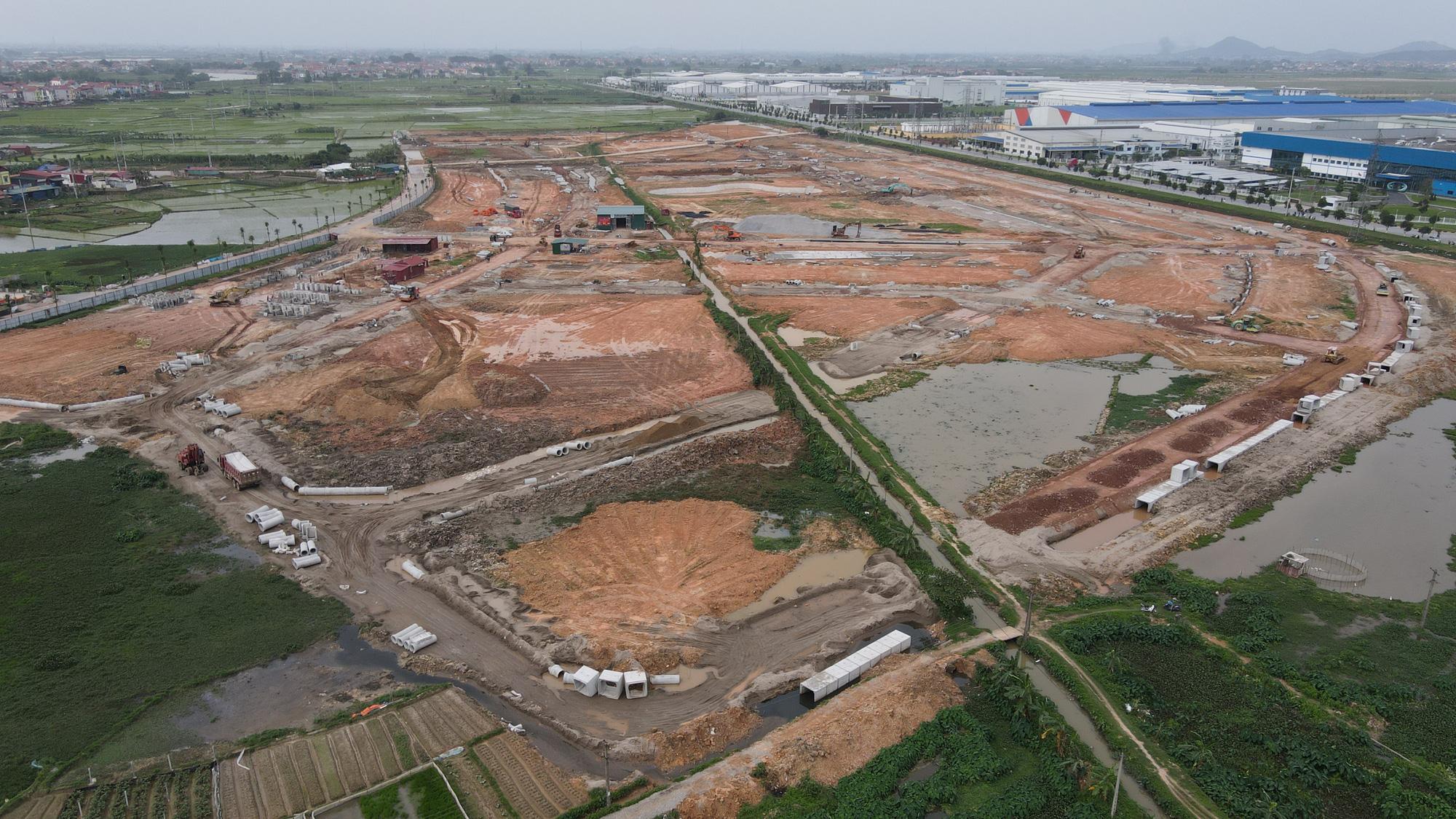 Bắc Ninh yêu cầu tạm dừng việc san lấp tại KCN Nam Sơn - Hạp Lĩnh mở rộng - Ảnh 1.