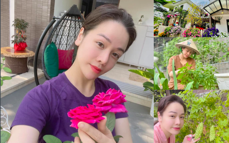 """Biệt thự """"khủng"""" của Nhật Kim Anh hóa vườn rau xanh mướt, đắt giá"""