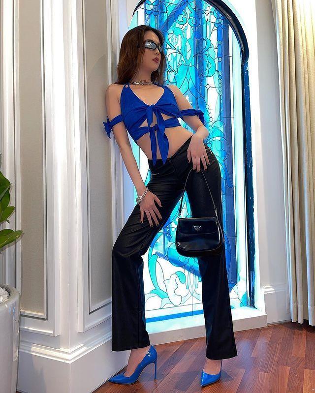 Diễm Hương gợi cảm hút mắt khi ở nhà, Chi Pu dẫn đầu top sao mặc đẹp tuần qua - Ảnh 2.
