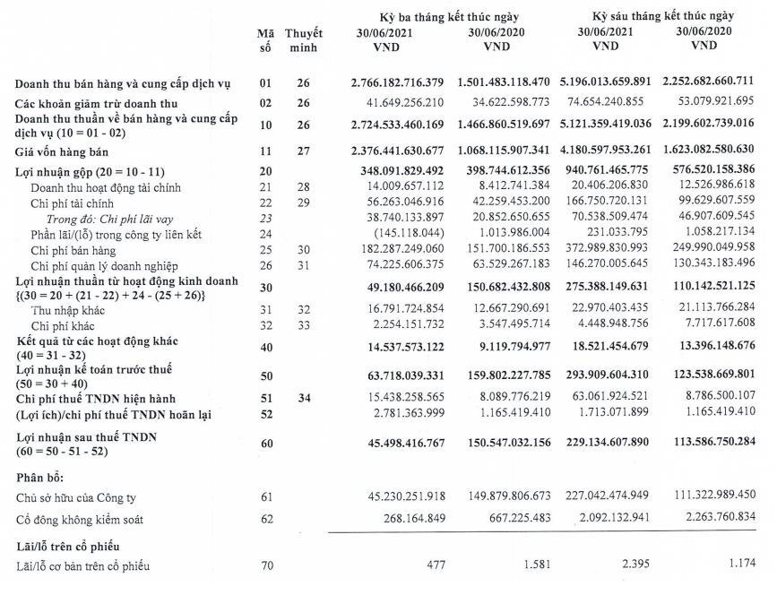 Chi phí tài chính tăng vọt, Lộc Trời (LTG) báo lãi quý II giảm 60% so với cùng kỳ - Ảnh 2.