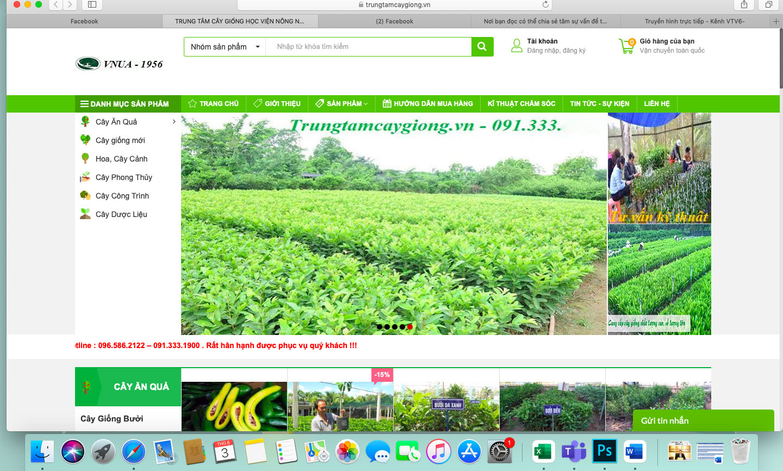 Nhiều website bán cây giống mạo danh của Học viện Nông nghiệp Việt Nam - Ảnh 1.